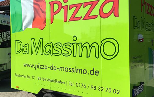 Pizza-Verkaufsanhänger